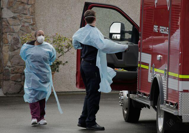 Nursing home worker and a medic in Kirkland, Washington