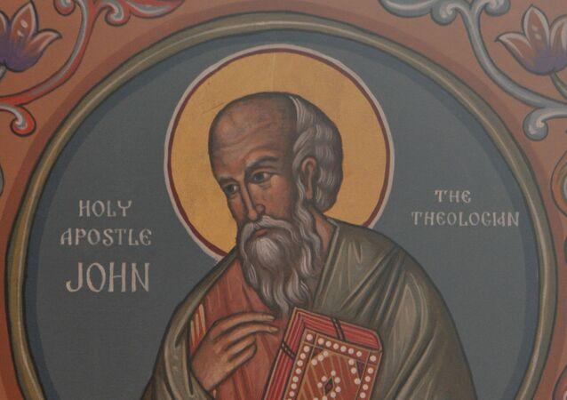 St. John the Apostle, a Theologian Icon