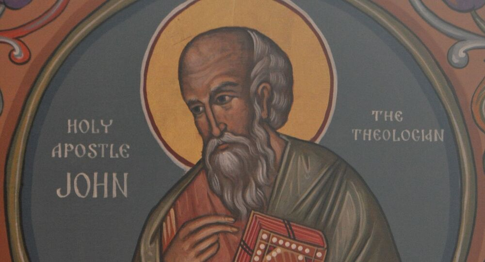 St. John the Apostle, a Theologian Icon