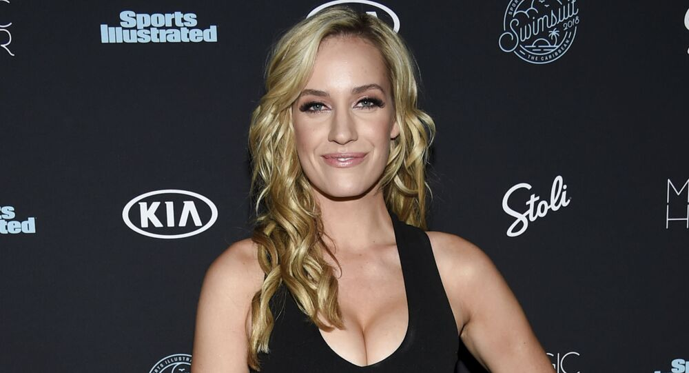 Professional golfer Paige Spiranac attends the 2018 Sports Illustrated Swimsuit Issue launch party at Magic Hour at Moxy NYC Times Square on Wednesday, Feb. 14, 2018, in New York.