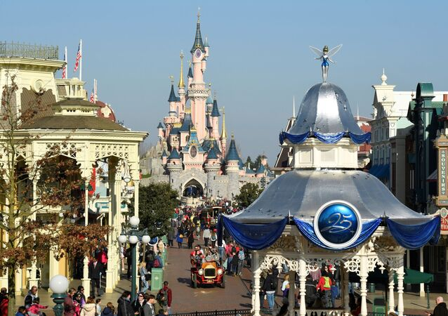 A general view shows Main Street on March 16, 2017 as Disneyland Paris - originally Euro Disney Resort - marks the 25th anniversary in Marne-La-Vallee, east of the French capital Paris. - The 25th anniversary celebrations will begin on March 26, 2017 with parades, various shows and a firework's display. (Photo by BERTRAND GUAY / AFP)