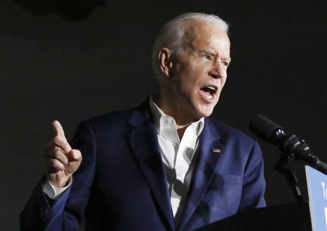 Democratic presidential candidate and former Vice President Joe Biden speaks at Tougaloo College in Tougaloo, Miss., Sunday, March 8, 2020.