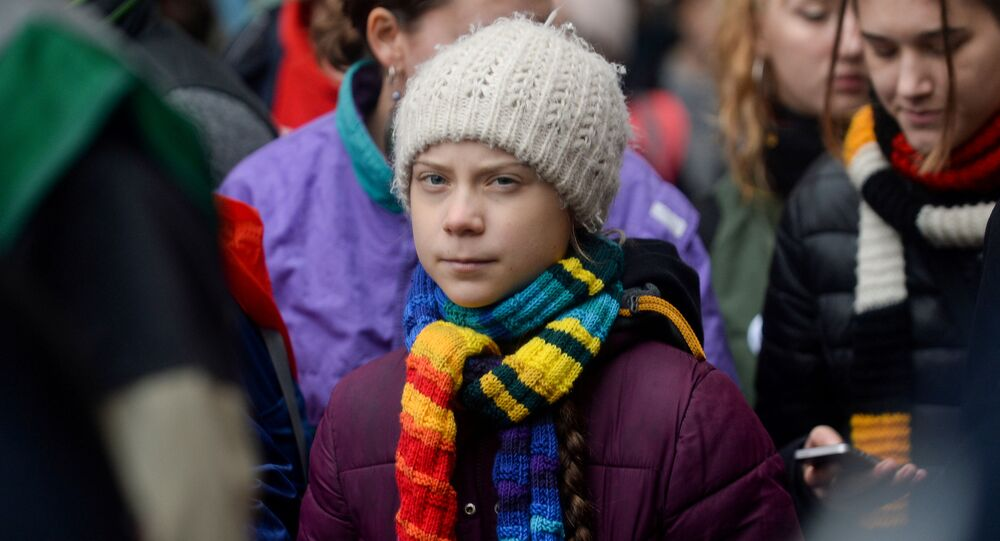 Swedish climate activist Greta Thunberg takes part in the rally ''Europe Climate Strike'' in Brussels, Belgium, March 6, 2020.