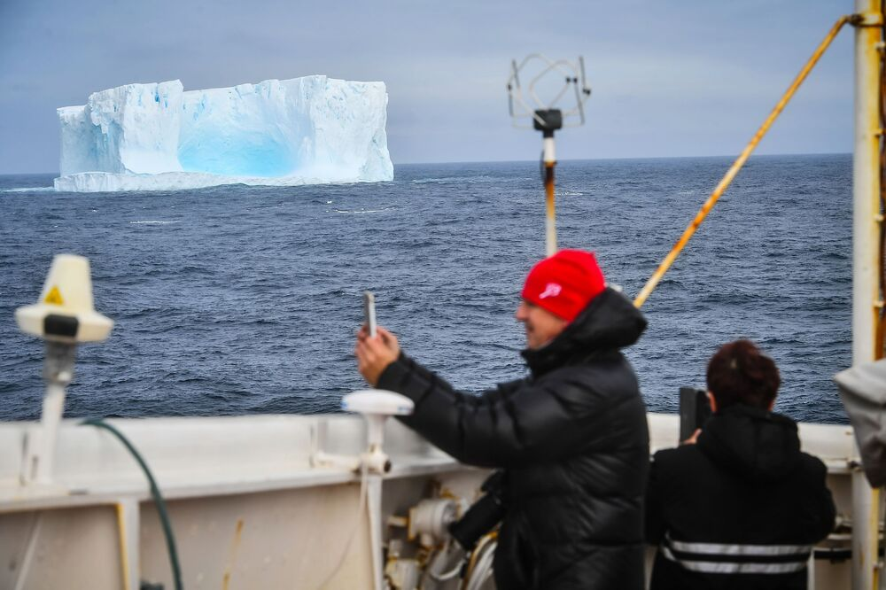 Iceberg in the area of the island of Adelaide in Antarctica.