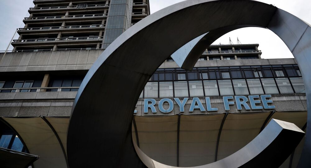 The Royal Free NHS hospital is pictured in London on February 10, 2020, where some of the UK nationals that have been confirmed to have the 2019-nCoV strain of the novel coronavirus have been taken.