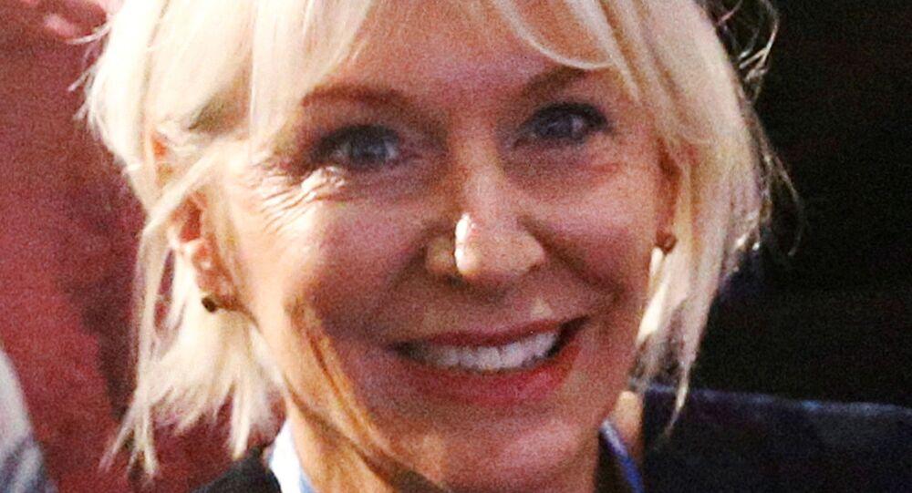 Britain's Conservative MP Nadine Dorries