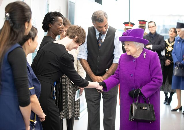 Britain's Queen Elizabeth visits the new premises of the Royal National ENT and Eastman Dental Hospitals in London