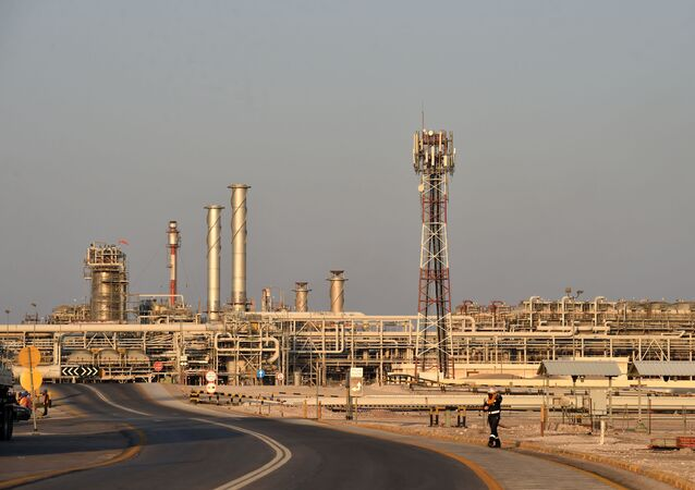 A general view of Saudi Aramco's Abqaiq oil processing plant on September 20, 2019.