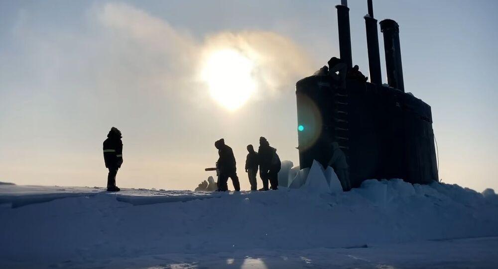 USS Toledo Arrives at Ice Camp Seadragon - Ice Exercise (ICEX) 2020