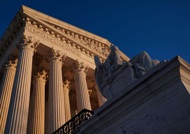The Supreme Court building exterior seen in Washington, U.S