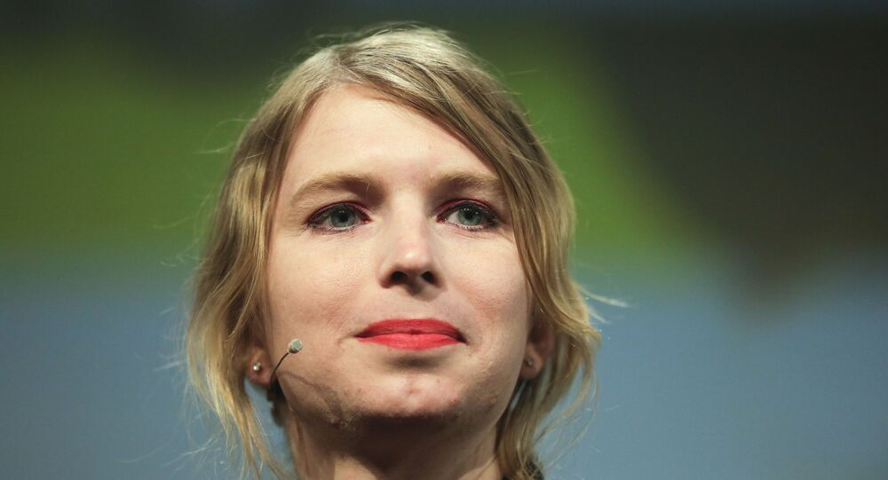 Chelsea Manning attends a discussion at the media convention Republica in Berlin