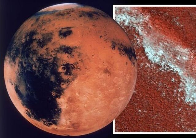 Water on Mars: A NASA probe snapped a picture of frozen water on Mars