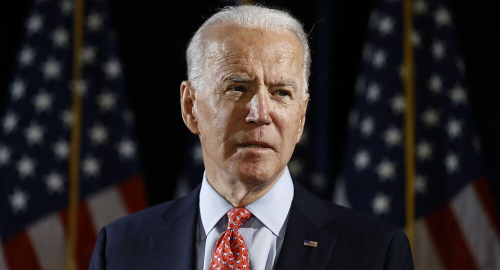 Democratic presidential candidate former Vice President Joe Biden speaks about the coronavirus Thursday, March 12, 2020, in Wilmington, De.