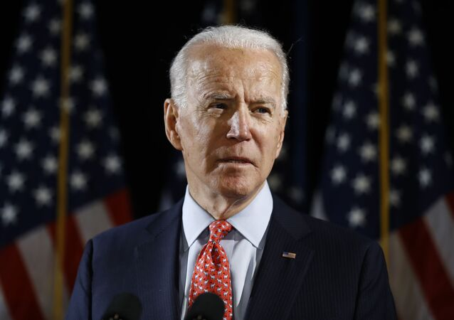 Democratic presidential candidate former Vice President Joe Biden speaks about the coronavirus Thursday, March 12, 2020, in Wilmington, De.