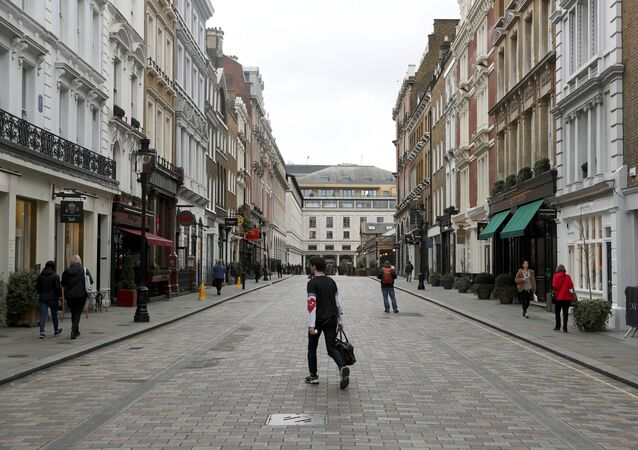 Sparsely Populated Street is Seen Near Covent Garden in London