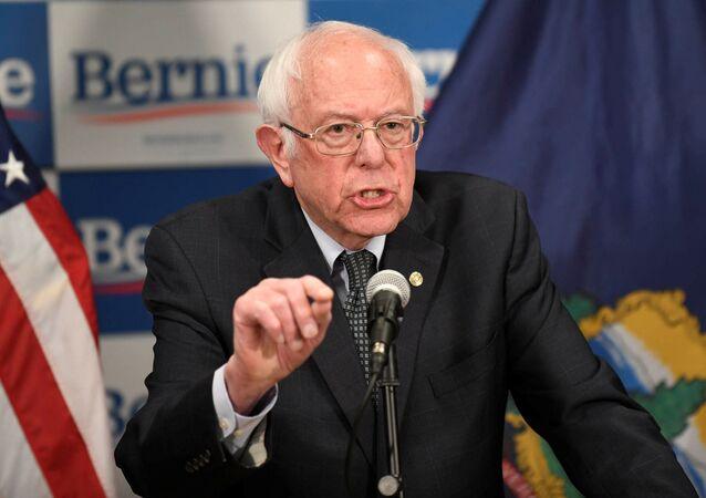 Democratic U.S. presidential candidate Bernie Sanders speaks about coronavirus in Burlington, Vermont, U.S. March 12, 2020.