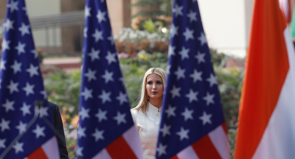 White House senior advisor Ivanka Trump arrives to attend the joint news conference of U.S. President Donald Trump and India's Prime Minister Narendra Modi at Hyderabad House in New Delhi, India, February 25, 2020. REUTERS/Adnan Abidi