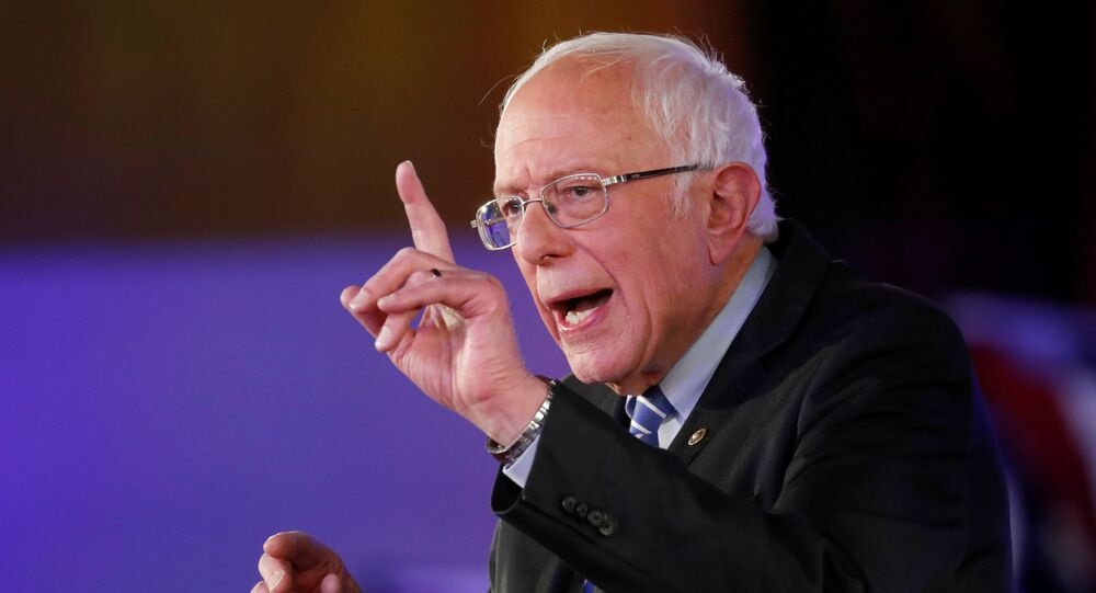 U.S. Democratic presidential candidate Bernie Sanders takes part in a FOX News Town Hall with co-moderators Bret Baier and Martha MacCallum in Detroit, Michigan, U.S., March 9, 2020