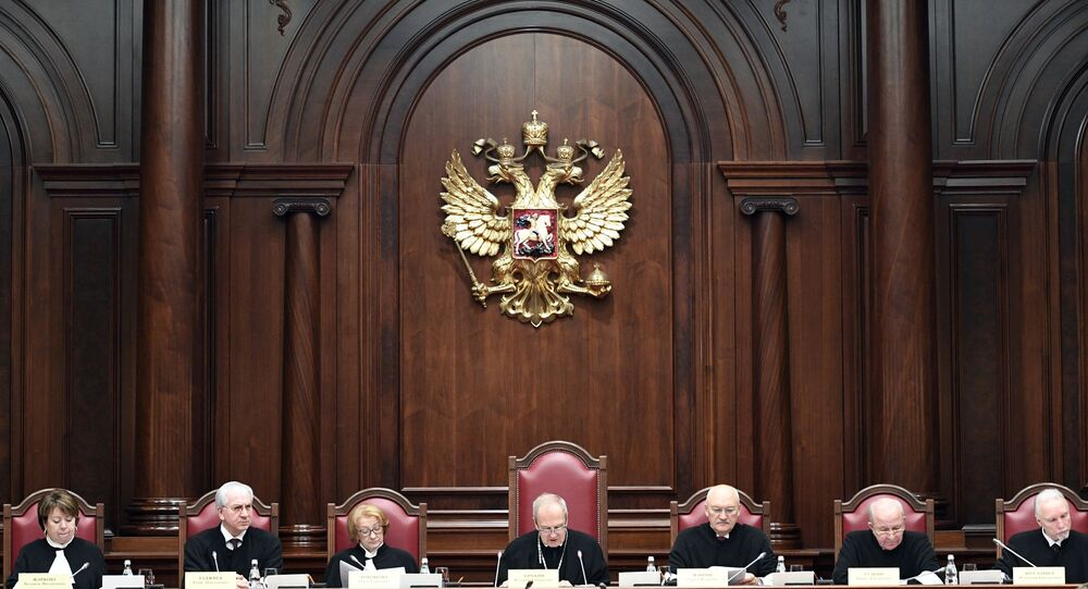 Meeting of the Russian Constitutional Court in St. Petersburg. File photo.