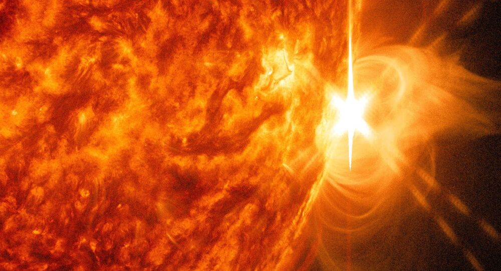 X-class Flare Erupts from Sun