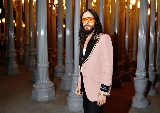 Jared Leto, wearing Gucci, attends the 2019 LACMA Art + Film Gala Presented By Gucci at LACMA on November 02, 2019 in Los Angeles, California