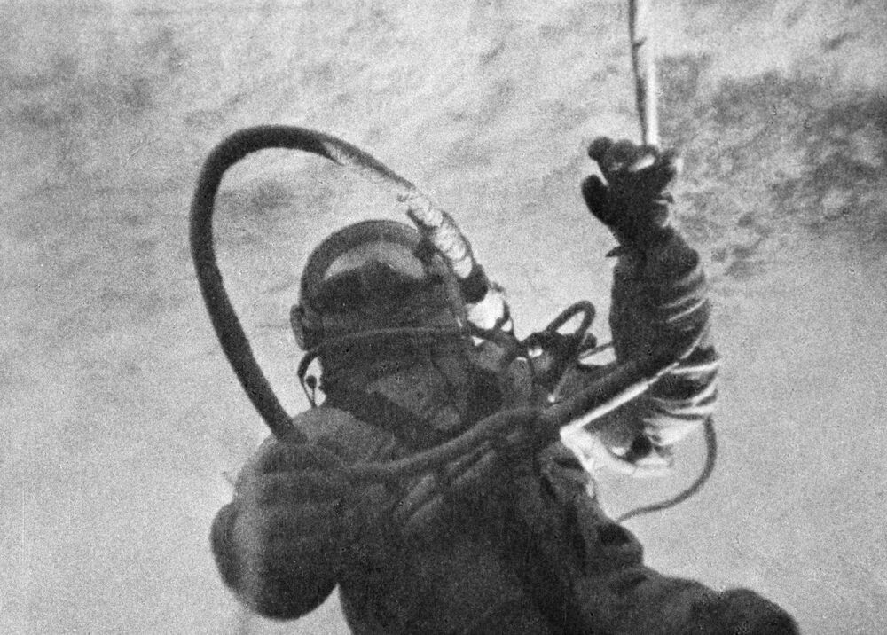 Alexei Leonov 18-19 March 1965, together with Pavel Belyaev, performed a space flight as a second pilot on the Voskhod-2 spaceship. During this flight, Leonov made the first spacewalk in the history of space exploration lasting 12 minutes 9 seconds.