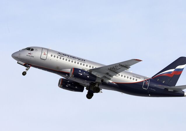 Sukhoi SSJ-100 aircraft of Aeroflot Airlines