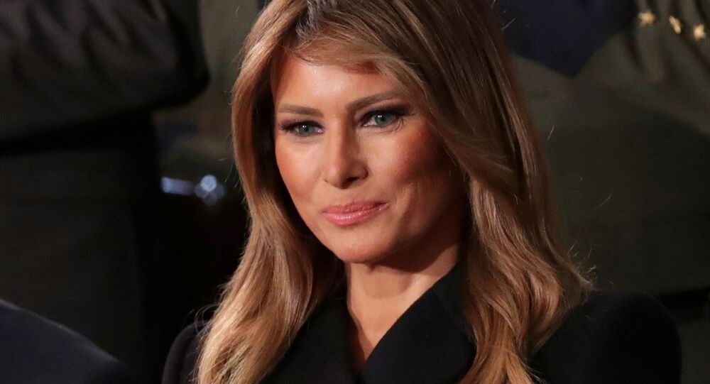 FILE PHOTO: First lady Melania Trump listens to U.S. President Donald Trump's State of the Union address to a joint session of the U.S. Congress in the House Chamber of the U.S. Capitol in Washington, U.S., February 4, 2020