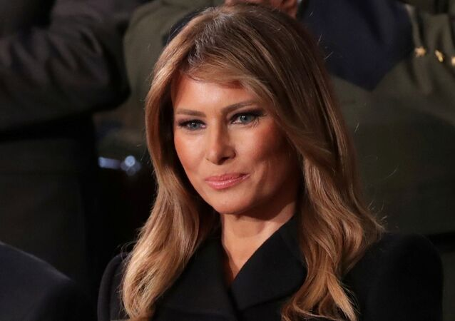 FILE PHOTO: First lady Melania Trump listens to U.S. President Donald Trump's State of the Union address to a joint session of the U.S. Congress in the House Chamber of the U.S. Capitol in Washington, U.S., 4 February 2020