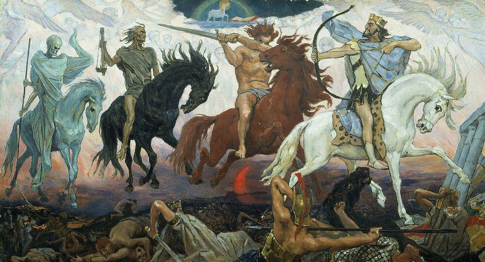 Four Horsemen of Apocalypse, by Viktor Vasnetsov. Painted in 1887