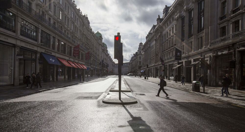 London's usually busy Regent Street is deserted after the Prime Minister said Covid-19 is the worst public health crisis for a generation