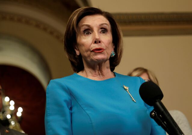 House Speaker Nancy Pelosi (D-CA) speaks to the media about a coronavirus economic aid package on Capitol Hill in Washington, U.S., March 13, 2020.