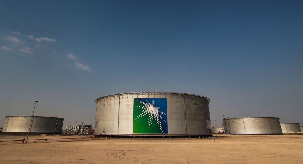 A view shows branded oil tanks at Saudi Aramco oil facility in Abqaiq, Saudi Arabia October 12, 2019.