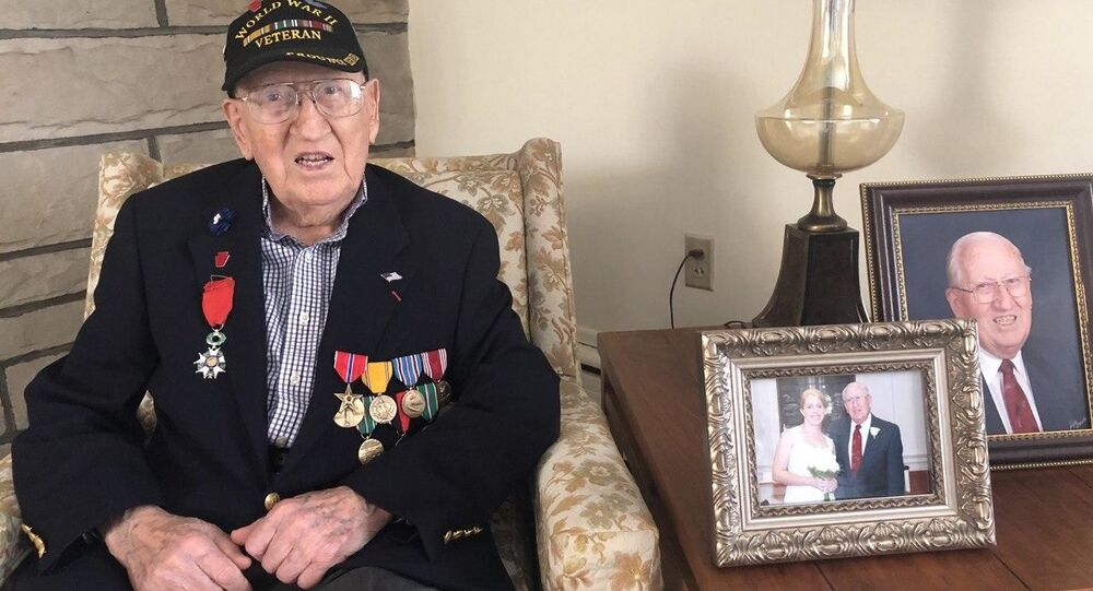 US World War II veteran Harold Angle