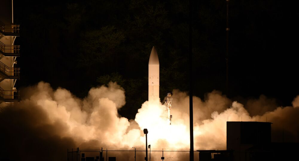 A common hypersonic glide body (C-HGB) launches from Pacific Missile Range Facility, Kauai, Hawaii