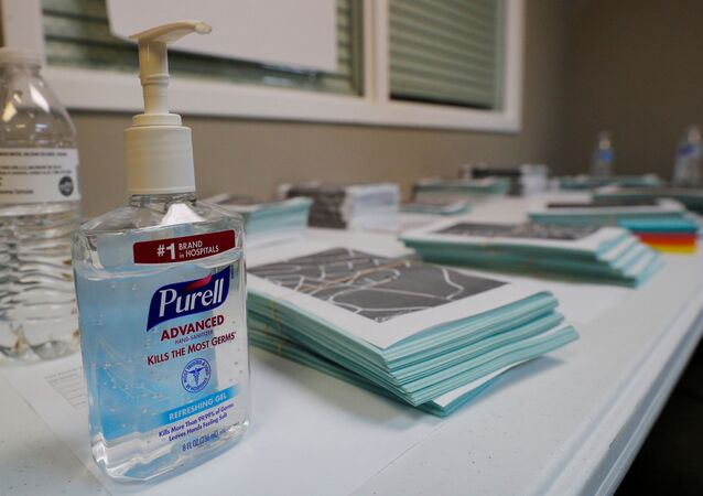 A bottle of Purell hand sanitizer sits next to campaign canvass packets at a field office for Democratic 2020 U.S. presidential candidate and U.S. Senator Elizabeth Warren (D-MA) in Graniteville, South Carolina, U.S., February 28, 2020