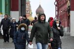 People Wearing Masks in Moscow