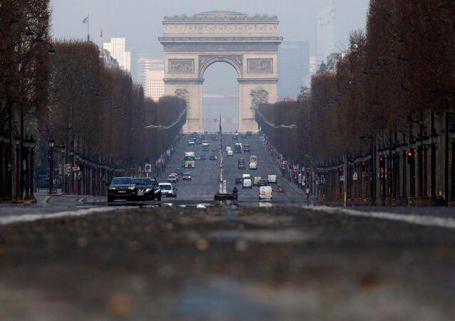Champs Elysees avenue in Paris