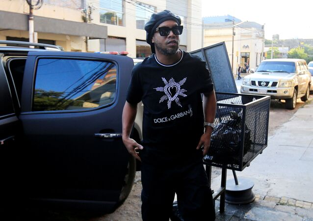 Paraguay police question Ronaldinho over alleged 'adulterated' passport - Paraguayan Public Ministry, Asuncion, Paraguay - March 5, 2020? Ronaldinho arrives to the Paraguayan Public Ministry to testify