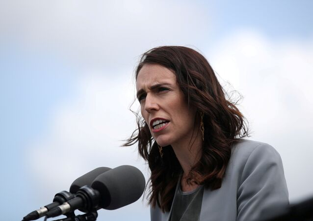 New Zealand Prime Minister Jacinda Ardern speaks during a joint press conference held with Australian Prime Minister Scott Morrison at Admiralty House in Sydney, Australia, February 28, 2020