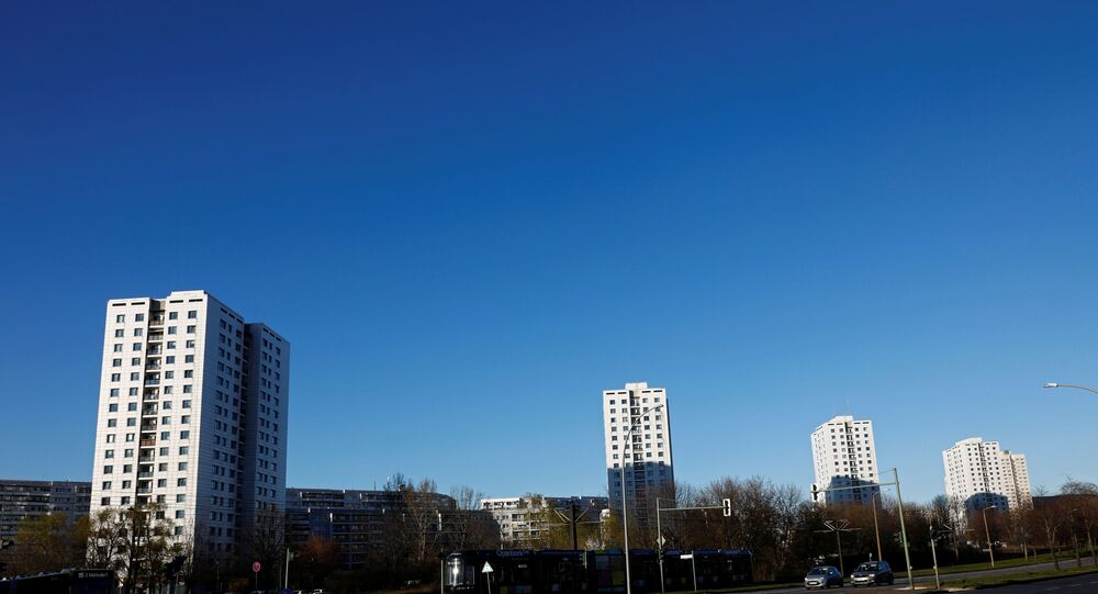 Residential flats are seen, as the spread of coronavirus disease (COVID-19) continues, in the district of Marzahn in Berlin, Germany, 22 March 2020.