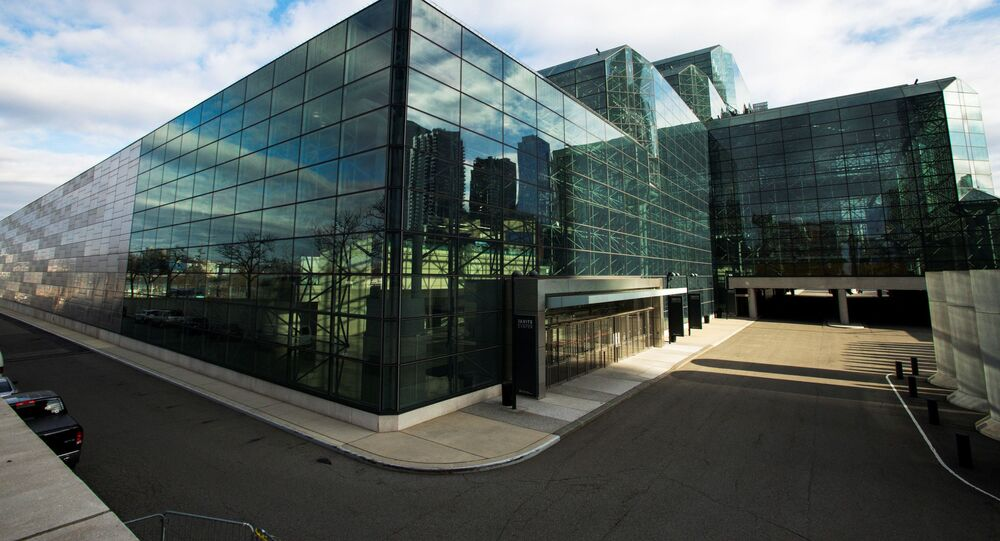 General view of the Javits Convention Center as the coronavirus disease (COVID-19) outbreak continues in New York, U.S., March 22, 2020