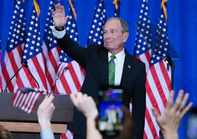 Former Democratic U.S. presidential candidate Mike Bloomberg appears at a news conference after ending his campaign for president in Manhattan in New York City, New York, U.S., March 4, 2020.