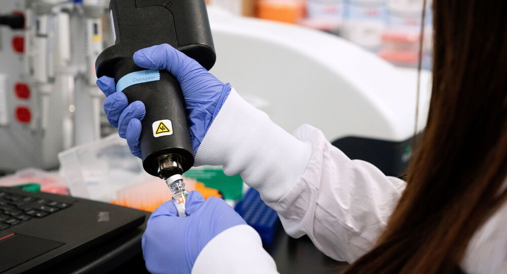 A scientist at RNA medicines company Arcturus Therapeutics research a vaccine for the novel coronavirus (COVID-19) at a laboratory in San Diego, California, U.S., March 17, 2020.
