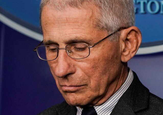 Director of the National Institute of Allergy and Infectious Diseases Anthony Fauci stands during a news briefing on the administration's response to the coronavirus disease (COVID-19) outbreak at the White House in Washington, U.S., March 21, 2020.