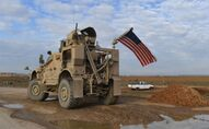 A US patrol in al-Hasakah province, file photo.