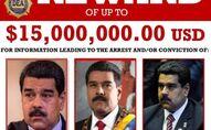DEA 'Wanted' poster of Venezuelan President Nicolas Maduro