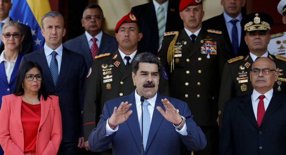 Venezuela's President Nicolas Maduro speaks during a news conference at Miraflores Palace in Caracas, Venezuela, March 12,