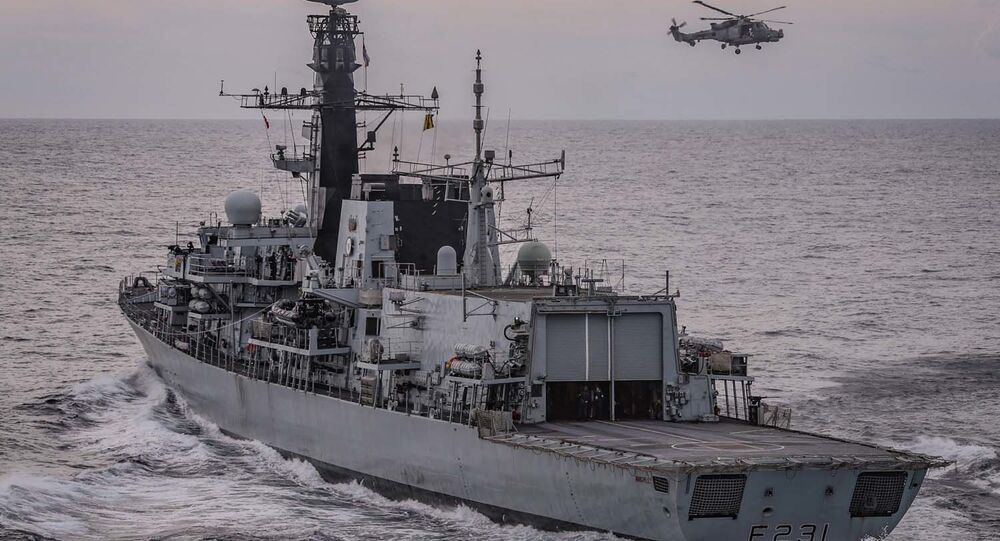 HMS Argyll. Handout released by the Royal Navy on 26 March 2020.