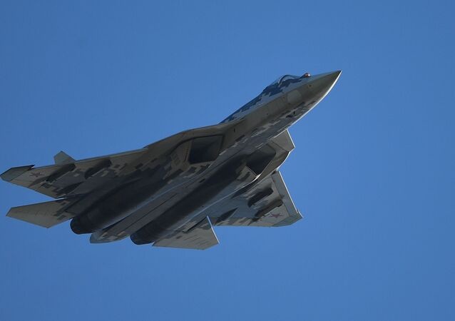 Russian Su-57 fifth-generation fighter jet